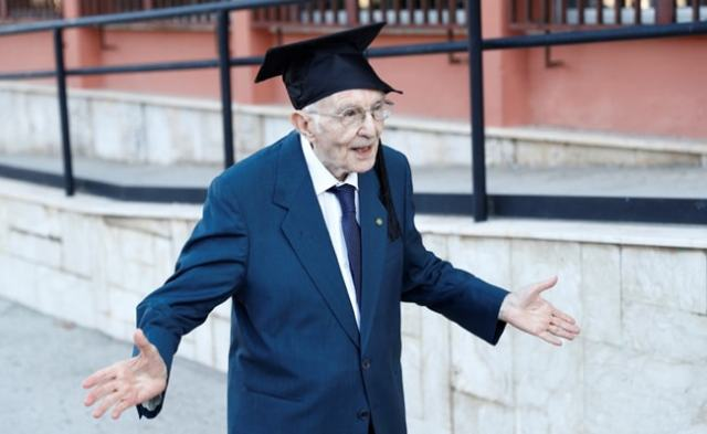 Knowledge A 'Treasure' For Italy's Oldest Student Who Graduated At 96