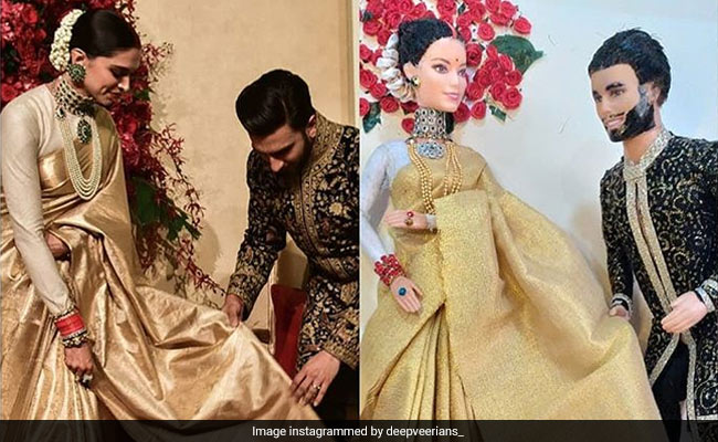 Not A Toy Story, Just Dolls Inspired By Deepika Padukone And Ranveer Singh's Reception Look