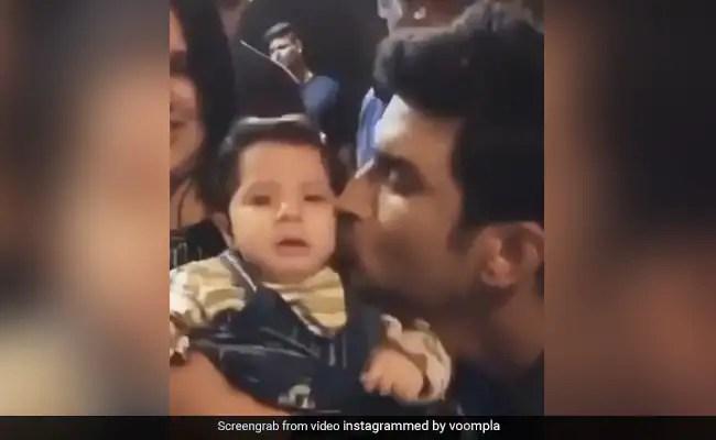 Sushant Singh Rajput बच्चे को रोता देख नहीं कर पाए कंट्रोल, फिर यूं साथ में खेलते आए नजर- देखें Video