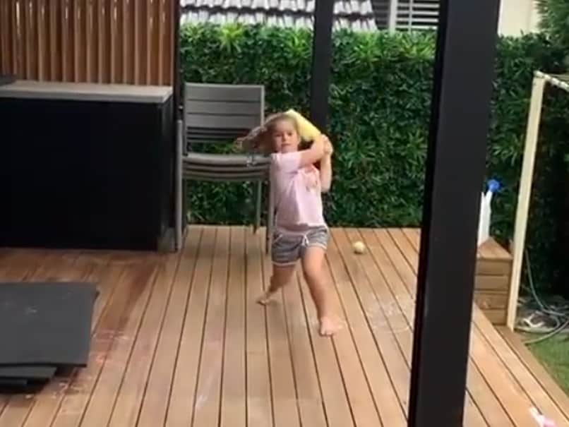 David Warner Shares Adorable Video Of Wife Candice Giving Batting Practice To Daughters. Watch