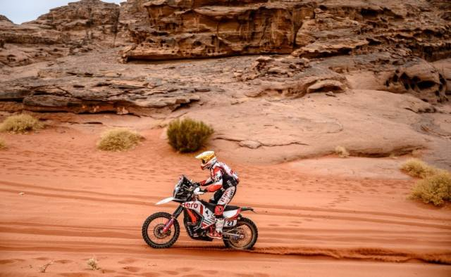 Hero MotoSports' Joaquim Rodrigues finished 10th at the end of Stage 10