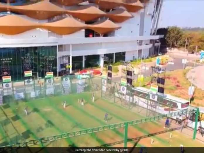 Watch: Aerial View Of Team Indias Net Session At Motera Stadium Ahead Of Third Test