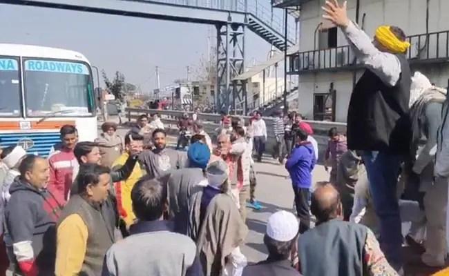 Farmers Block Key Highway In Haryana During Chakka Jam, Delhi On High Alert