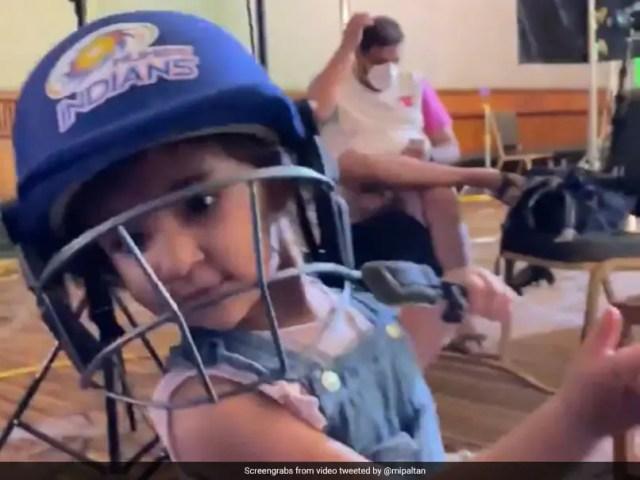 Rohit Sharmas Daughter Samaira Cheers For Mumbai Indians, Plays A