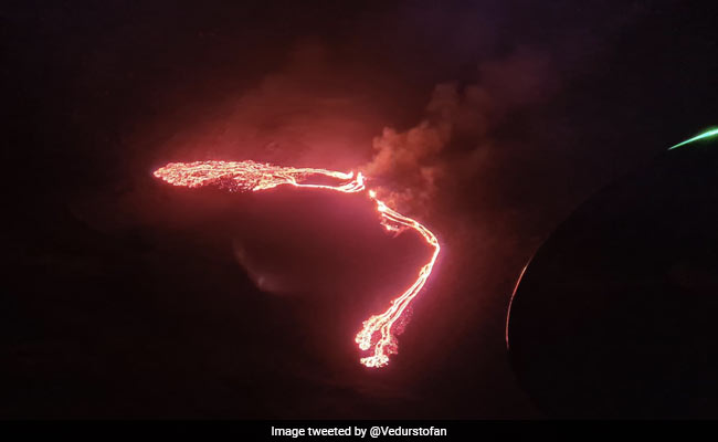 Icelandic Volcano Erupts, Lights Up Night Sky Near Capital Reykjavik