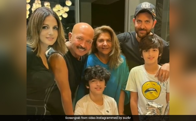Hrithik Roshan And Ex-Wife Sussanne Khan Celebrate Son Hrehaan's Birthday With Family And Friends. See Pics