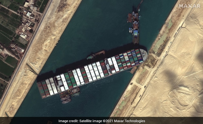 Giant Ship Stuck For Days In Suez Canal Floats Again: Report