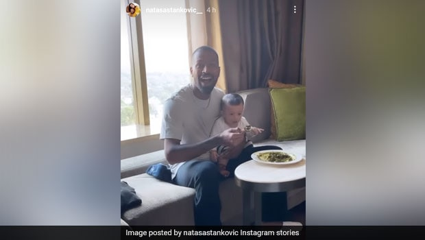 Hardik Pandya And Son Agastya's Lunchtime Video Is The Cutest Thing On Internet Today