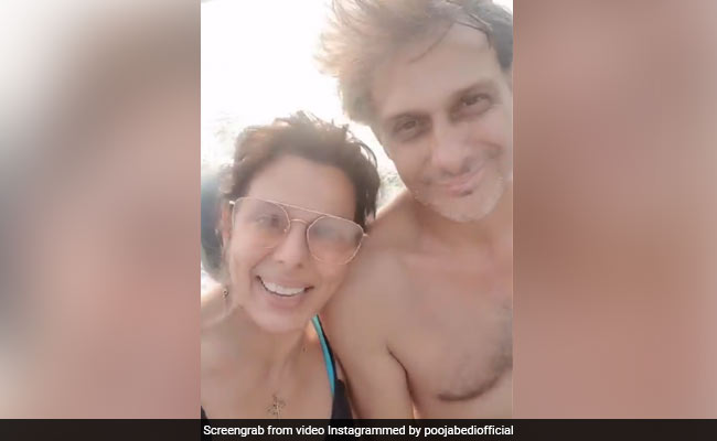 A Sneak Peek Into Pooja Bedi's 'Happy' Life With Fiance Maneck Contractor In Goa