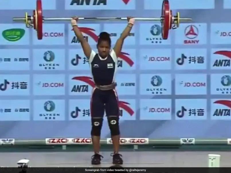 Indias Jhilli Dalabehera Wins 45kg Gold At Asian Weightlifting Championships