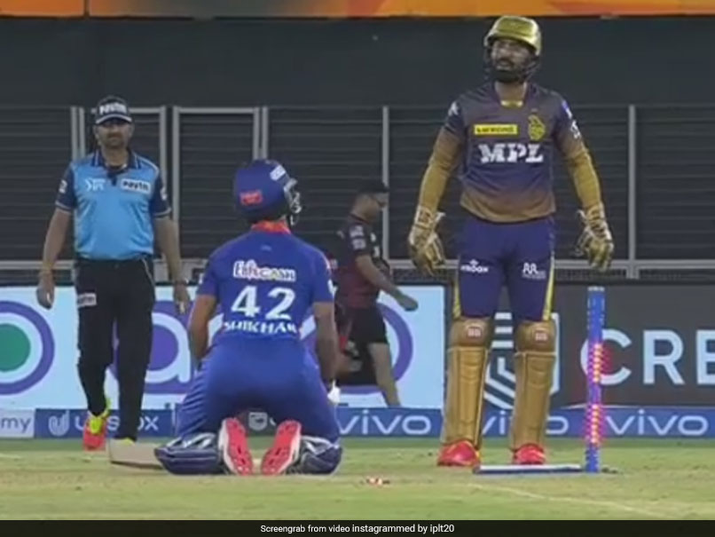 DC vs KKR: Shikhar Dhawan, Dinesh Karthik's Funny Exchange In DC vs KKR Clash. Watch | Cricket News