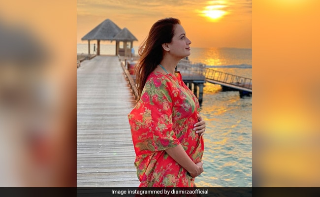 'Blessed': Dia Mirza Makes Pregnancy Announcement With Baby Bump Pic From Maldives