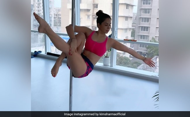 We Bet You Can't Find A Better Caption Than Kim Sharma For Her Pole Dance Pic