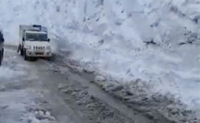 Zojila Pass Connecting Kashmir Valley And Ladakh Opens
