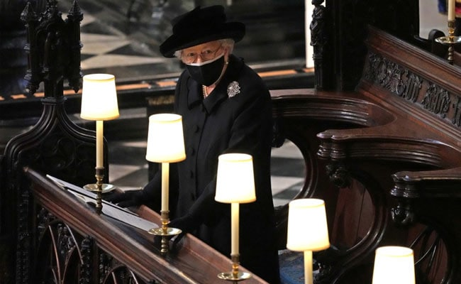 Queen Elizabeth Stands Alone As Husband Prince Philip Is Buried