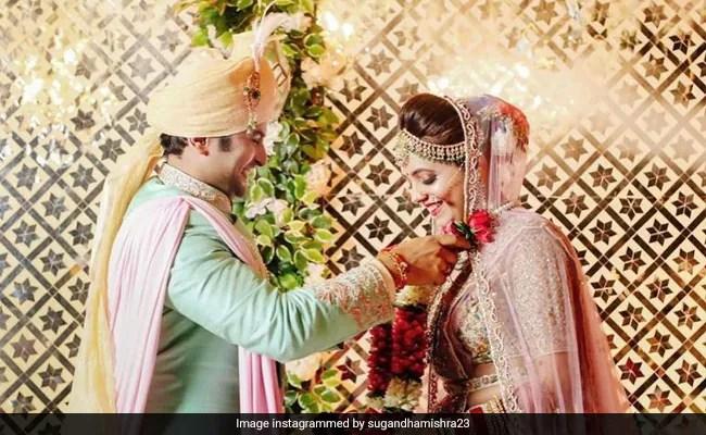 The Kapil Sharma Show Stars Sugandha Mishra And Sanket Bhosale Get Married. See Pic