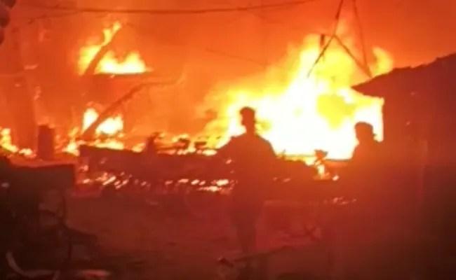 Huge Fire In Delhi's Punjabi Bagh, 22 Fire Trucks At The Spot