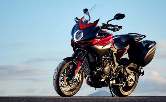 The new adventure bike may have similar styling like the MV Agusta Turismo Veloce