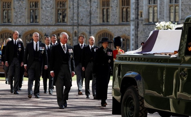 Funeral Procession Begins For Queen Elizabeth's Husband, Prince Philip