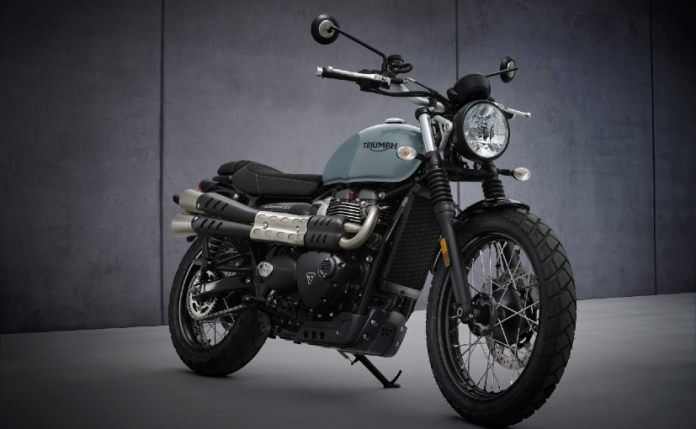 The 2021 Triumph Street Scrambler will be launched on October 12, 2021
