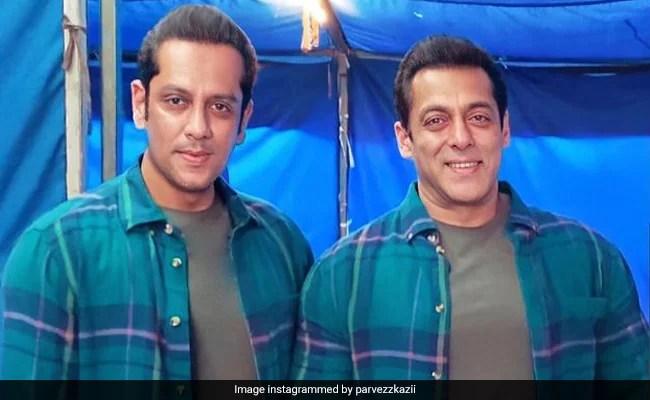 Viral: Salman Khan's Pic With Body Double Parvez Kazi From Radhe Sets