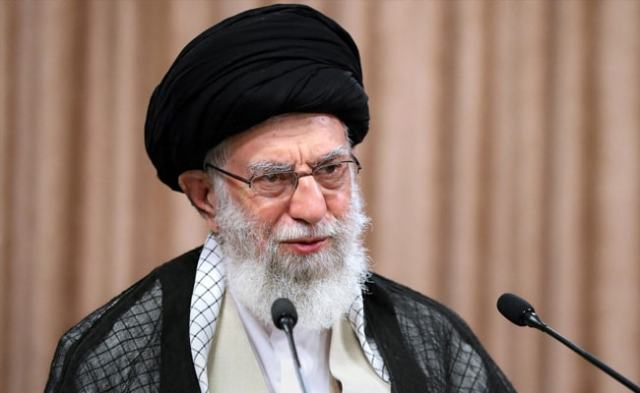 Iran's Supreme Leader Ayatollah Ali Khamenei Casts First Ballot In Presidential Vote