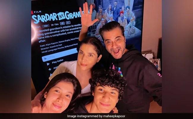 'माई डे इज सॉर्टेड', संजय, शनाया के साथ सरदार का पोता देखते हुए महीप ने लिखा