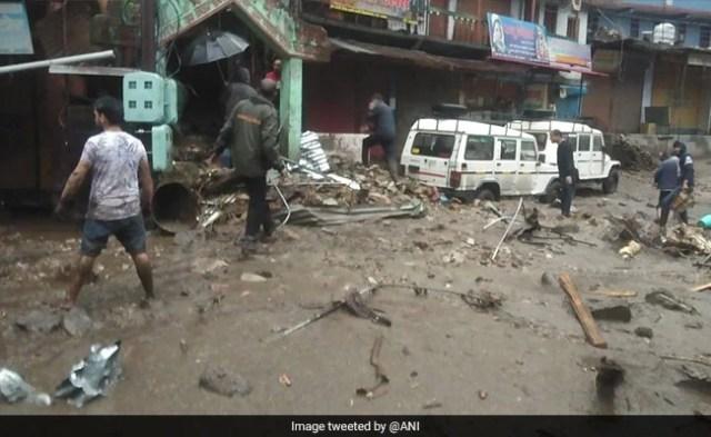 Cloudburst In Uttarakhand's Chamoli District, Several Shops Buried Under Debris