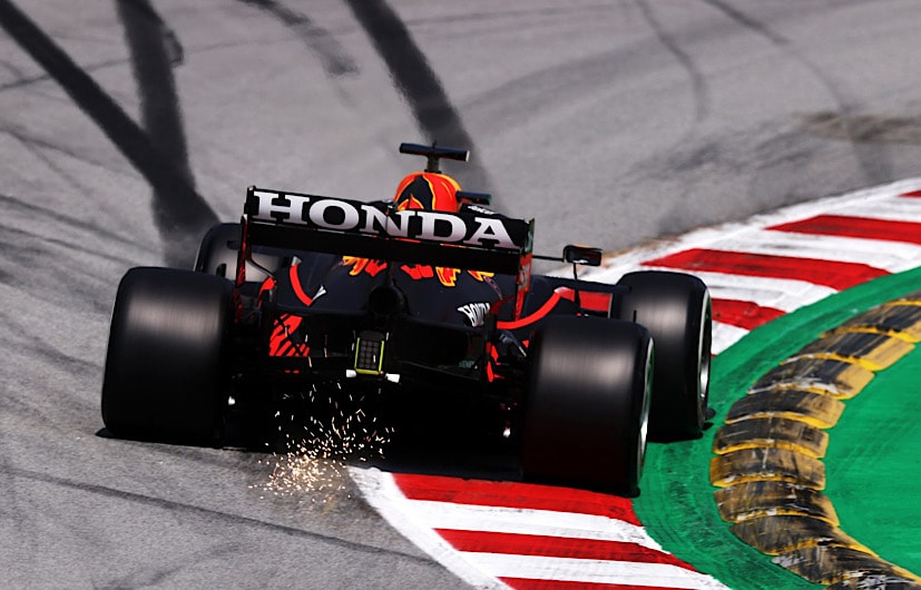 The Honda powered Red Bull has lost its engine on the straights since the British GP