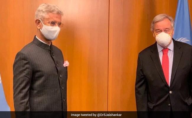 S Jaishankar Meets UN Secretary General, Discusses Vaccine Solutions