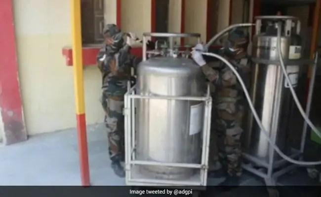 सेना ने तरल ऑक्सीजन को कम दबाव वाली ऑक्सीजन गैस में बदलने के लिए प्रणाली विकसित की
