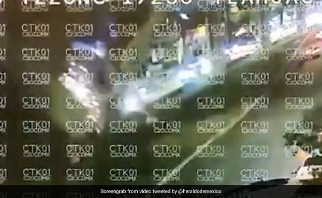 Chilling CCTV Video Shows Elevated Metro Plunging To Ground, 23 Dead