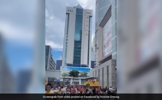 Watch: One Of China's Tallest Skyscrapers Wobbles And Shakes