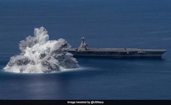 Video: US Navy Tests Warship's Metal With Megablast