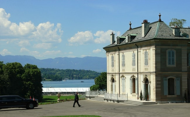 Historic Lakeside Villa In Geneva Hosts Joe Biden-Vladimir Putin Talks
