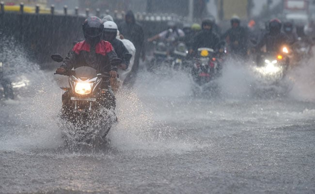 Downpour In Mumbai As Authorities Prep For Weather Department's Red Alert