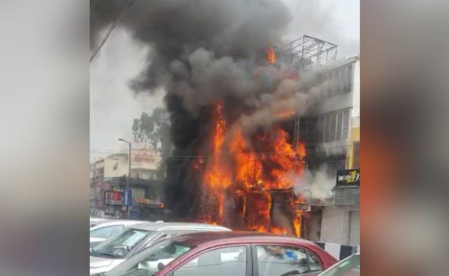 Fire Breaks Out At Showroom In South Delhi, 16 Fire Engines At Spot