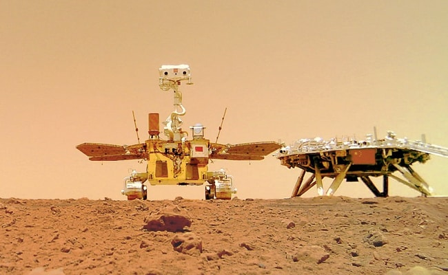 """Rover 'Zhurong' Leaves """"China's Imprint"""" On Mars"""