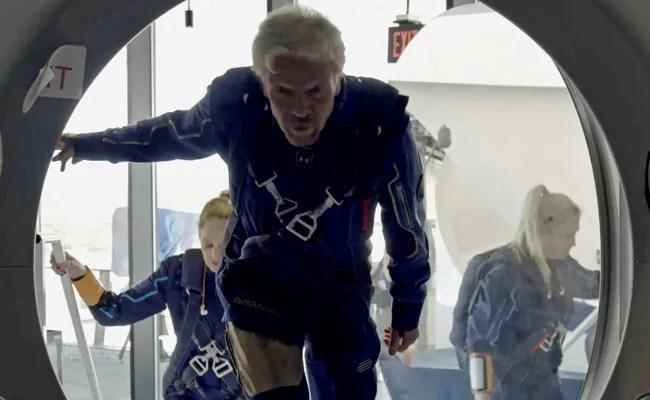 Virgin Galactic's Richard Branson Ready For Space Launch Aboard Rocket Plane