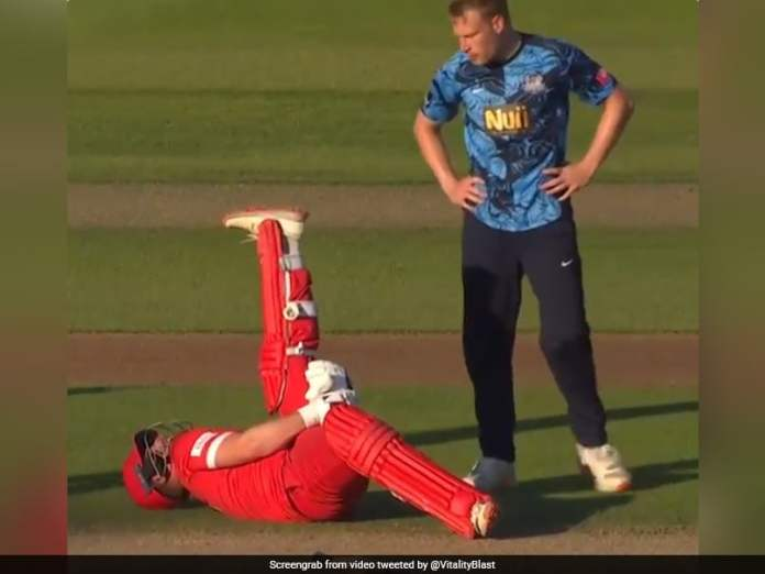 Watch: English County Teams Sporting Gesture To Not Run Out Batsman Who Collapsed Mid-Pitch