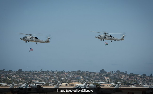US Hands Over First 2 Of 24 MH-60R Maritime Helicopters To Indian Navy