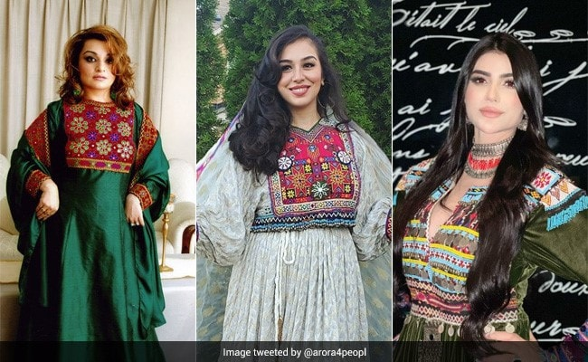 Afghan Women Overseas Pose In Colorful Attire In Protest Against Taliban