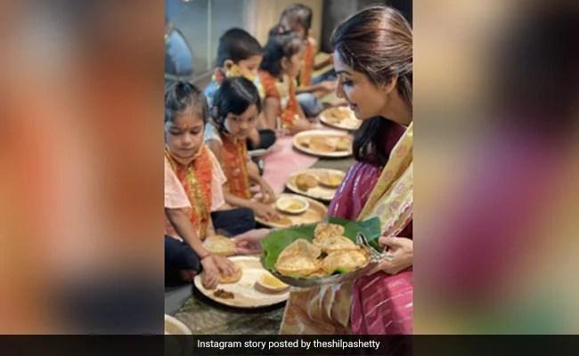 ICYMI: Pics From Shilpa Shetty's Ashtami Celebrations At Home