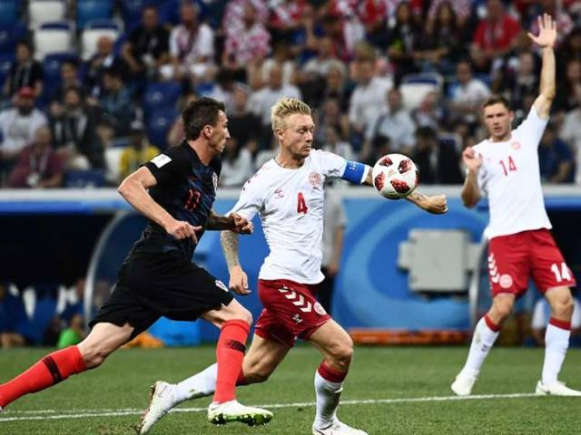 Image result for croatia vs denmark 2018