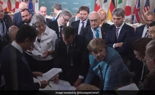 italian pm at g7 summit