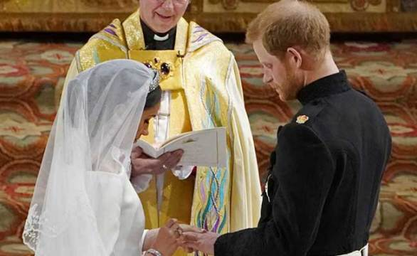 prince harry meghan markle exchange vows afp