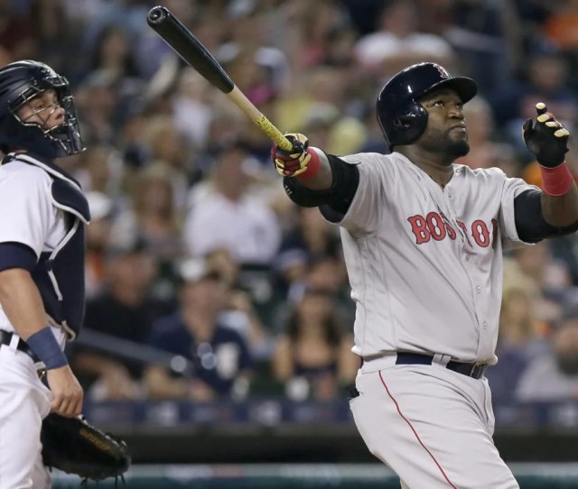 David Ortiz Right Watched His Two Run Home Run Fly Out Of Comerica