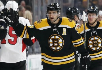 Image result for patrice bergeron hat trick