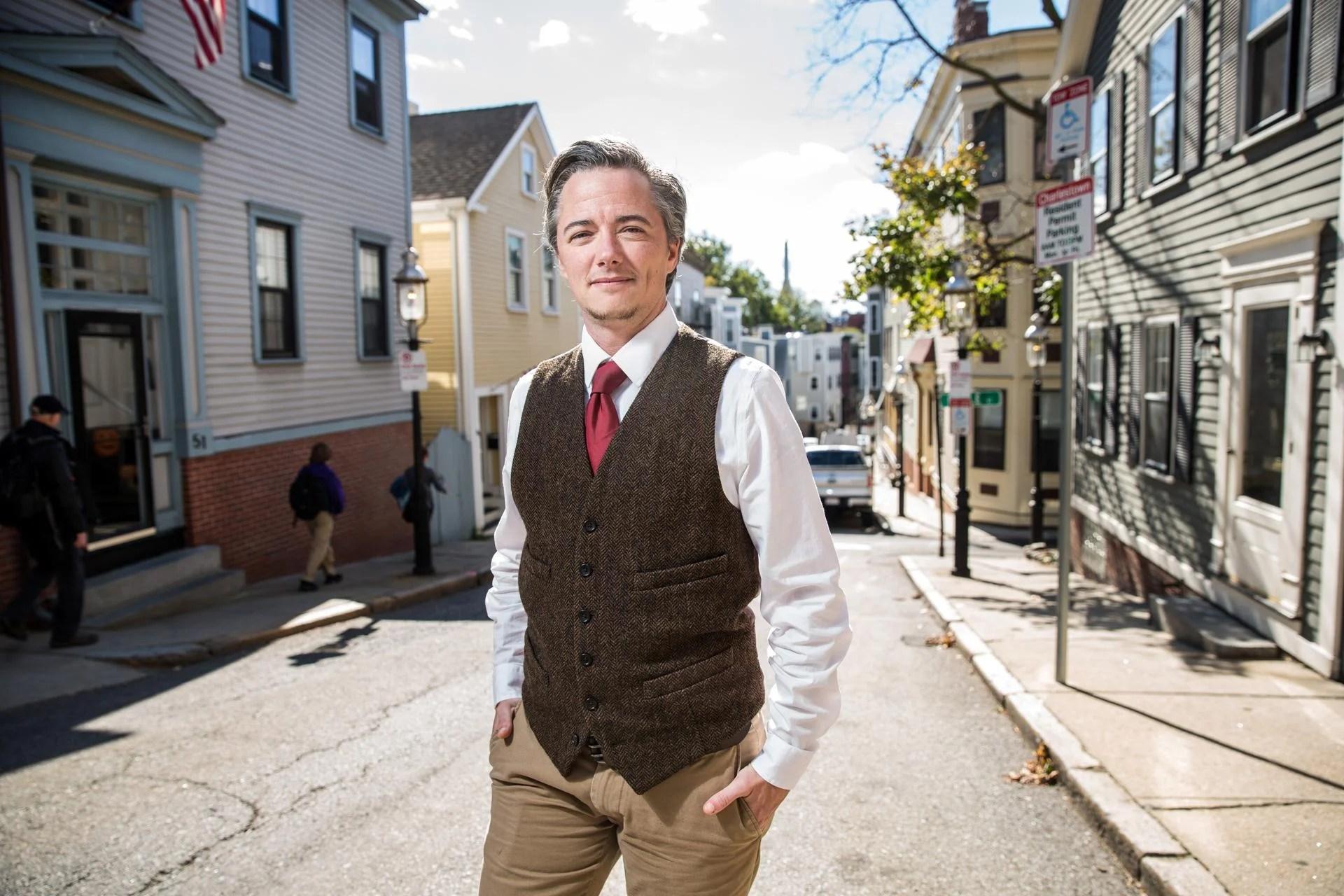 10/24/2016 CHARLESTOWN, MA Hoarding Intervention Program Manager Jesse Edsell-Vetter (cq) poses for a portrait in Charlestown. (Aram Boghosian for The Boston Globe)