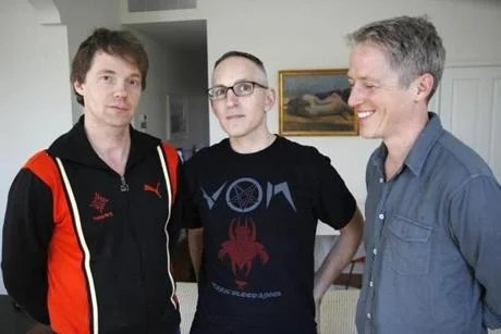Reunited for their current tour, Codeine's trio (from left) of drummer Chris Brokaw, bassist-singer Stephen Immerwahr, and guitarist John Engle.